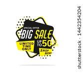 big sale banner template vector ... | Shutterstock .eps vector #1442354204