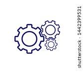 gear symbol icon vector... | Shutterstock .eps vector #1442399531
