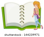 illustration of a girl and a... | Shutterstock .eps vector #144239971
