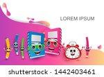 welcome back to school. school... | Shutterstock .eps vector #1442403461