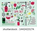 doodle set of spa elements for... | Shutterstock .eps vector #1442423174