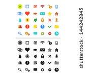 web icons set  vector version    Shutterstock .eps vector #144242845
