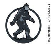 Stock vector yeti silhouette logo vector templete 1442433821