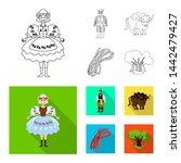 bitmap design of traditional... | Shutterstock . vector #1442479427