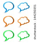 speech bubble 3d | Shutterstock . vector #144250351