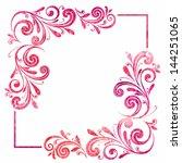 grunge floral frame. vector... | Shutterstock .eps vector #144251065