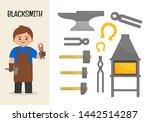 vector character blacksmith.... | Shutterstock .eps vector #1442514287