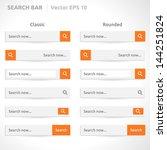 search bar template   vector... | Shutterstock .eps vector #144251824