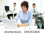 office people being absorbed in ... | Shutterstock . vector #144252364