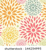 Stock vector seamless ornamental floral pattern decorative cute background with round flowers 144254995