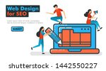 web design for seo line vector...