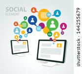 social icon group element... | Shutterstock .eps vector #144255679
