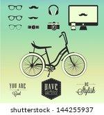 hipster style | Shutterstock .eps vector #144255937