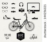 hipster design | Shutterstock .eps vector #144256321