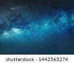 milky way night sky background... | Shutterstock . vector #1442563274