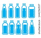 plastic bottle set | Shutterstock .eps vector #144256537