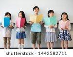 primary school students who...   Shutterstock . vector #1442582711