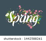 spring text lettering... | Shutterstock . vector #1442588261