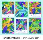 set of summer vector...   Shutterstock .eps vector #1442607104
