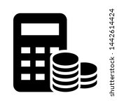 money calculation icon vector.... | Shutterstock .eps vector #1442614424