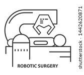 robotic surgery line icon.... | Shutterstock . vector #1442620871
