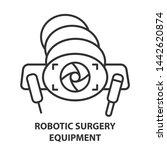 robotic surgery equipment line... | Shutterstock . vector #1442620874