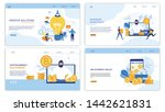 business landing page set for... | Shutterstock .eps vector #1442621831