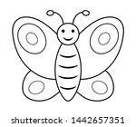 Butterfly Outline Clipart....