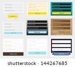 web forms collection. vector... | Shutterstock .eps vector #144267685