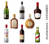 8 shiny alcohol drinks icons | Shutterstock .eps vector #144268801