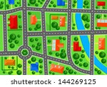 map of suburb town for real... | Shutterstock .eps vector #144269125