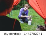 hike and camping life. view... | Shutterstock . vector #1442702741