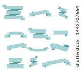 blue ribbon set inisolated... | Shutterstock .eps vector #1442707664