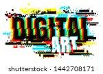 creative letters of digital art ... | Shutterstock .eps vector #1442708171