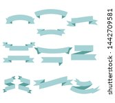 blue ribbon set inisolated...   Shutterstock .eps vector #1442709581