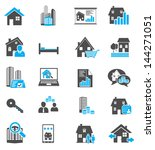 real estate icons | Shutterstock .eps vector #144271051