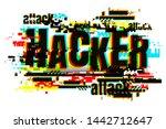 creative letters of hacker... | Shutterstock .eps vector #1442712647