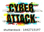 creative letters of cyber... | Shutterstock .eps vector #1442715197