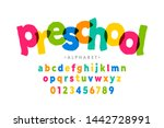 preschool  kids style colorful... | Shutterstock .eps vector #1442728991