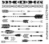 a set of cute hipster arrows ... | Shutterstock .eps vector #144279484