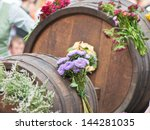 Old Wooden Barrel  With...