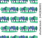 seamless pattern with tree... | Shutterstock .eps vector #1442836001