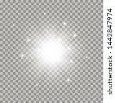 white glowing light burst... | Shutterstock .eps vector #1442847974