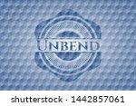 unbend blue emblem with... | Shutterstock .eps vector #1442857061