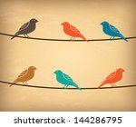 birds design over vintage... | Shutterstock .eps vector #144286795