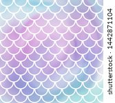 pink  violet and blue mermaid... | Shutterstock .eps vector #1442871104