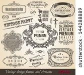 calligraphic element border... | Shutterstock .eps vector #144288889