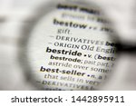 Small photo of The word or phrase Bestride in a dictionary