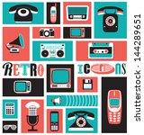 Stylish Media Icons   Retro...