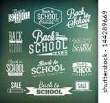 back to school calligraphic... | Shutterstock .eps vector #144289669